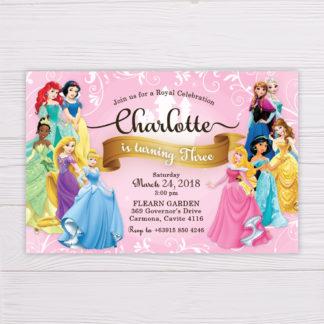 Disney Princesses Invitation