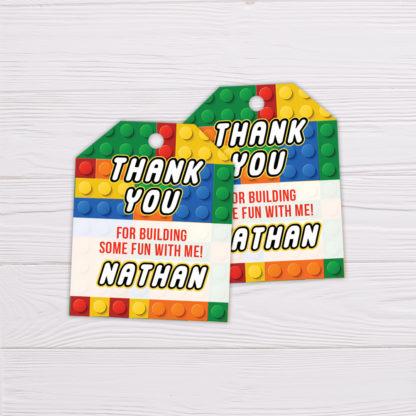 Lego Thank You Card