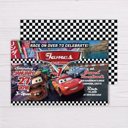 Disney Pixar's Lightning McQueen Cars Invitation