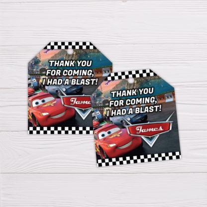 Disney Pixar's Lightning McQueen Cars Thank You Card
