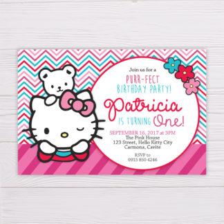 Hello Kitty Invitation - Pink