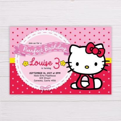 Hello Kitty Invitation Red