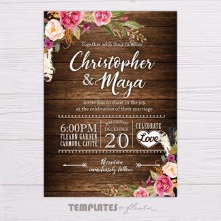 Rustic Bohemian Printable Invitation