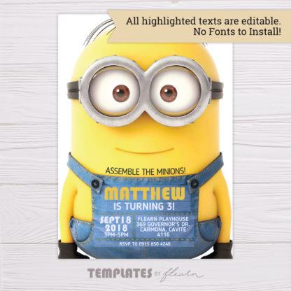 Minions Editable Invitation Template