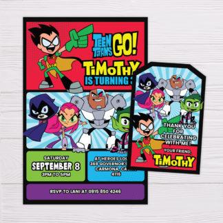 Teen TItans Go! Invitation