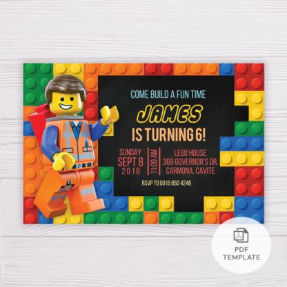 Lego Invitation Template