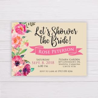 Bridal Shower Invitation - Let's Shower the Bride