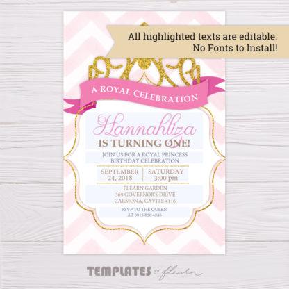 Royal Princess Invitation Template
