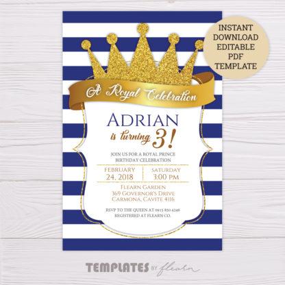 Prince Royal Invitation Template