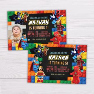 Superheroes Lego Invitation