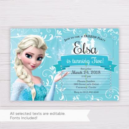 Frozen Elsa Invitation Template