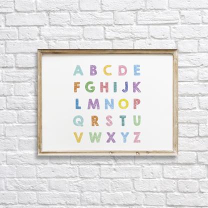 Colorful Alphabet Nursery Wall Decor Printable