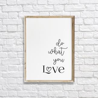 Do What You Love Wall Decor Printable
