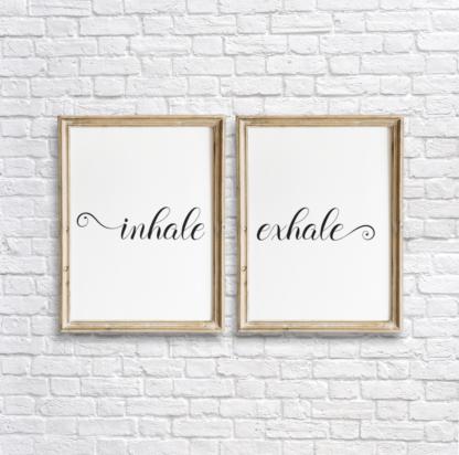 Inhale, Exhale Room Wall Decor Printable