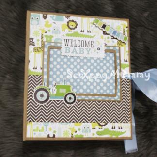Baby Boy Mini Album PDF Tutorial