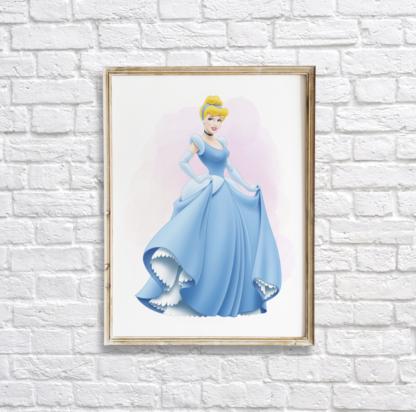 Cinderella Wall Art Room Decor Printable