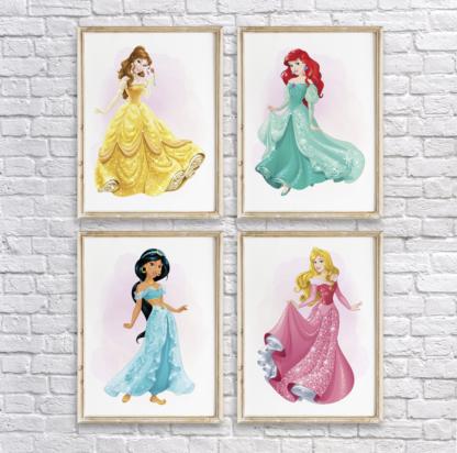 Disney Princesses Wall Art Room Decor Printable