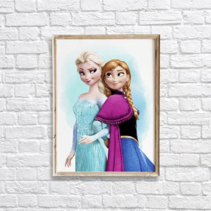 Frozen Elsa & Anna Wall Art/Decor Printable