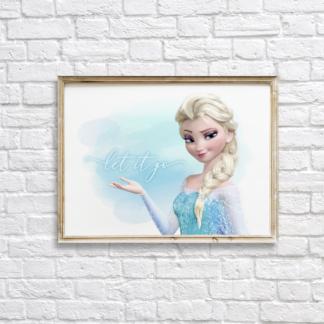 Frozen Elsa Wall Art/Decor Printable - Let It Go