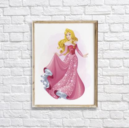Sleeping Beauty Princess Aurora Wall Art Room Decor Printable
