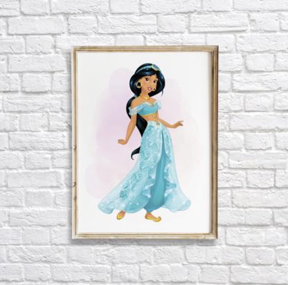 Aladdin Princess Jasmine Wall Art Room Decor Printable
