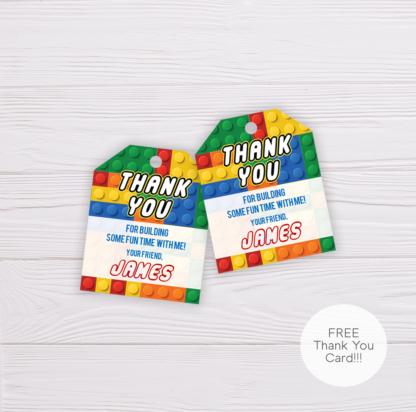 Lego Thank You Card Template