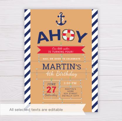 Sailor Invitation Template
