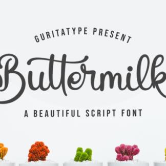 Buttermilk Script Font
