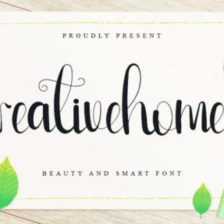Creative Home Cute Script Font