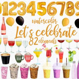Drinks, Coffee, Wine, Champagne, Smoothies, Milkshake Cliparts
