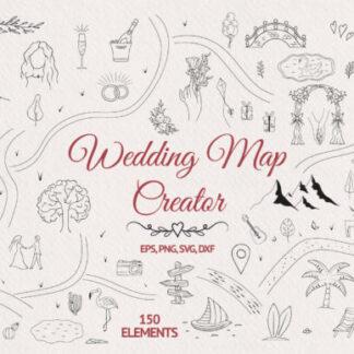 Hand Drawn Wedding Map Graphics Creator