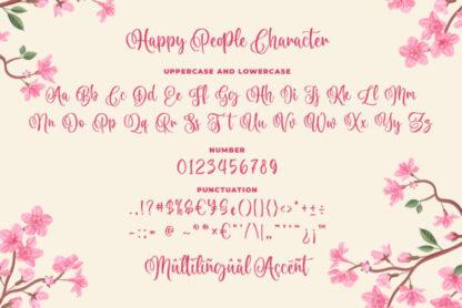 Happy People Script Font