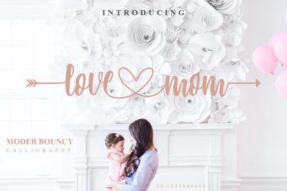 Love Mom Handwritten Font