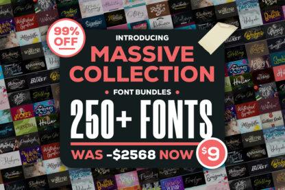 Massive Collection Font Bundle