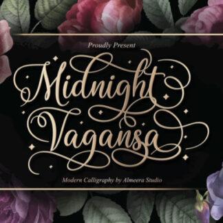 Midnight Vagansa Elegant Script Font