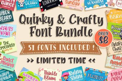 Quirky & Crafty Font Bundle
