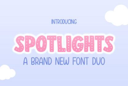 Spotlights Duo Handwritten Display Font