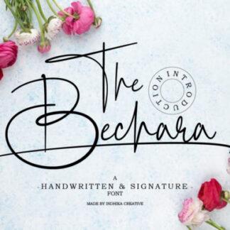 The Bechara Elegant Handwritten Font
