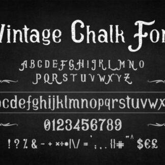 Vintage Chalk Font