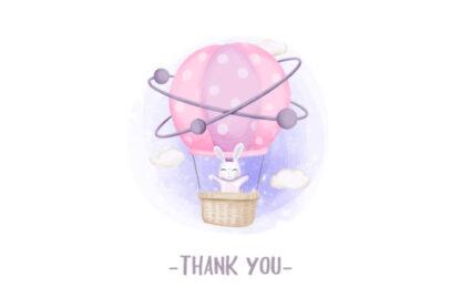Cute Animal Hot Air Balloon Graphics Clipart