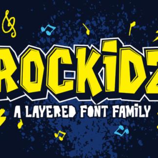 Rockidz Layered Display Font