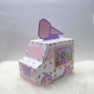 3D PAPER ICE CREAM TRUCK LOOT BOX