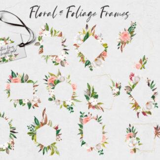Watercolor Floral & Foliage Graphics Set