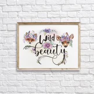 Wild Beauty Graphic Wall Art, Room Decor